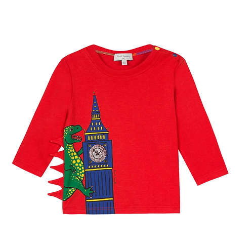 5P10511/360 PAUL SMITH BABY BOYS LONG SLEEVE TEE-SHIRT