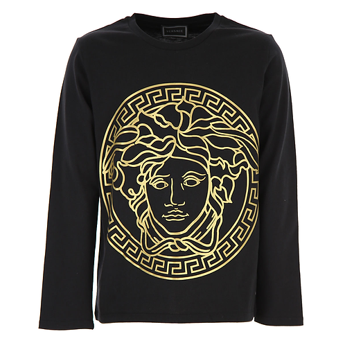 YD000111/YA71A VERSACE BOYS LONG SLEEVE T-SHIRT