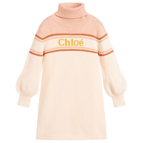 C12761/44B CHLOÉ KIDS GIRLS KNITTING DRESS