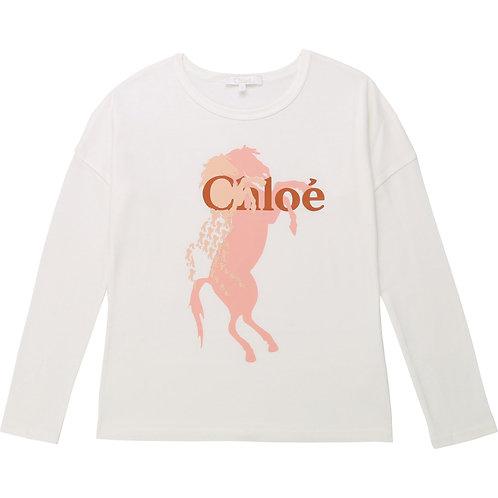 C155459/326 CHLOÉ GIRLS LONG SLEEVE T-SHIRT