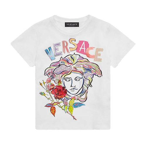 YC000428/A1002 VERSACE GIRLS SHORT SLEEVE T-SHIRT