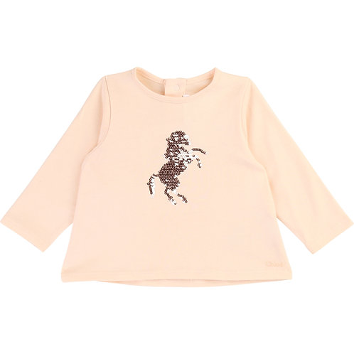 C05311/44B CHLOÉ BABY GIRLS LONG SLEEVED T-SHIRT