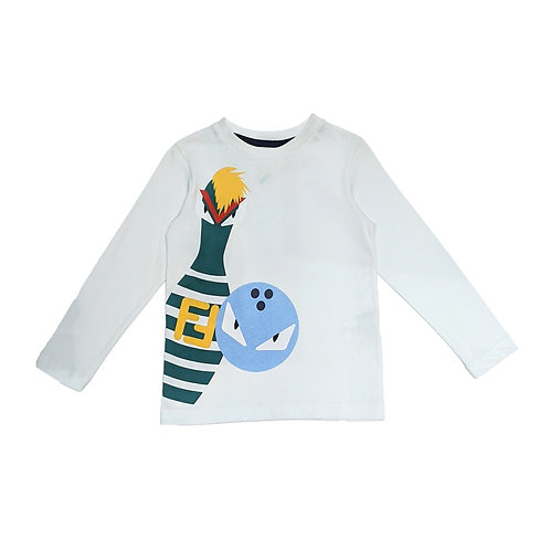 JMI230/F0QA0 FENDI KIDS LONG SLEEVE T-SHIRTS