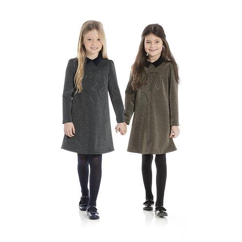 4J1520JA/005 LANVIN GIRLS DRESS IN GOLD COLOUR