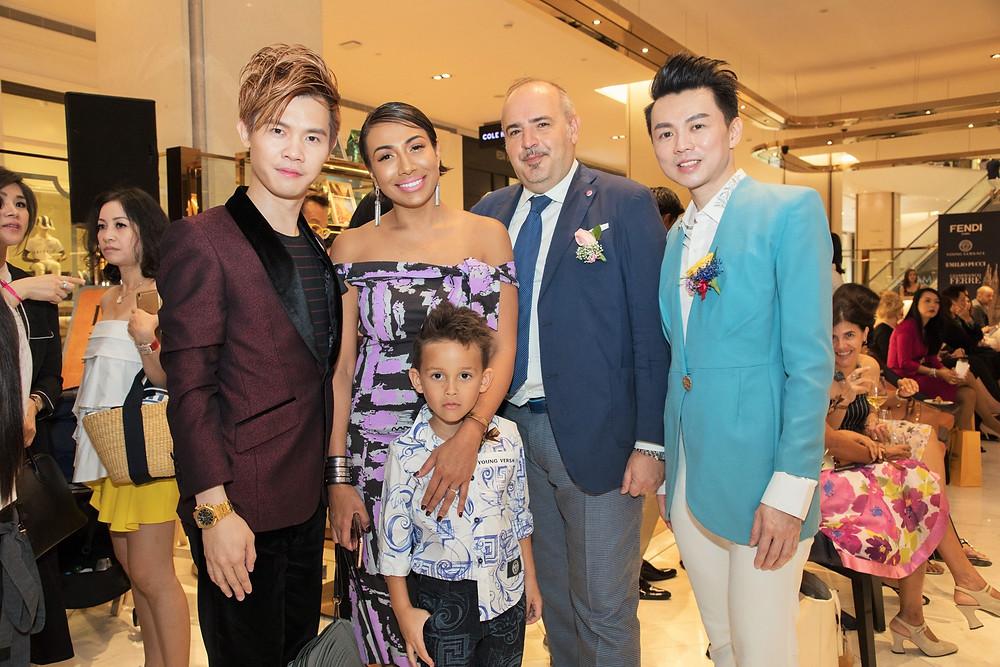 From left to right: Mr. Matthew Benjamin Yoon, Ms. Ning Baizura (with her son Rayyan Dalton), Dr. Samuel Porsia and Mr. Brian John Yim