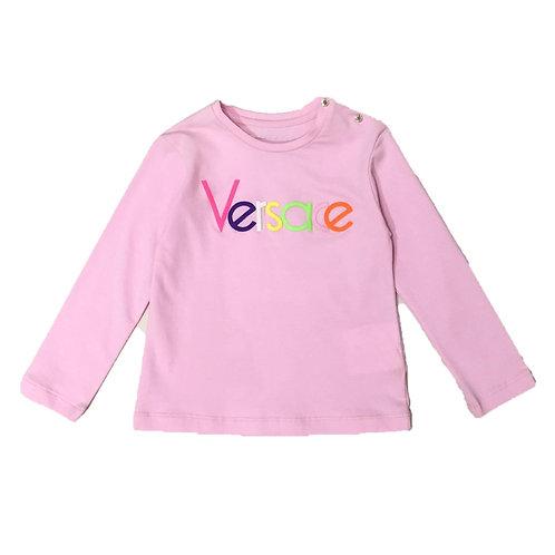 YVGTS126X/Y4869 VERSACE BABY GIRLS LONG SLEEVE T-SHIRT