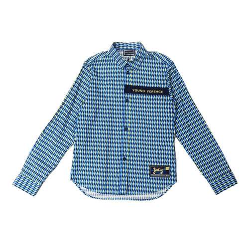 YVMCA91/Y3718 VERSACE BOYS LONG SLEEVE SHIRT
