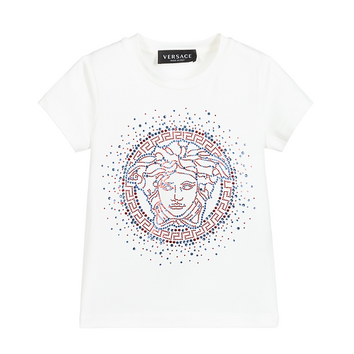 YC000432/A1002 VERSACE GIRLS SHORT SLEEVE T-SHIRT