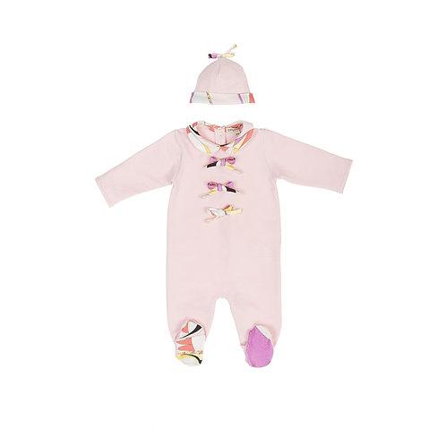 9J0570JX/013 EMILIO PUCCI BABY GIRLS ROMPER