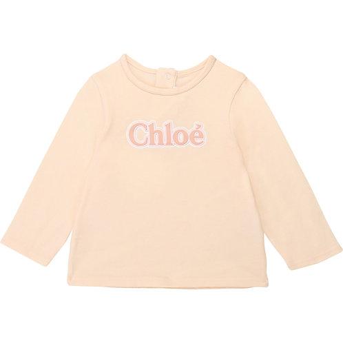 C05310/44B CHLOÉ BABY GIRLS LONG SLEEVED T-SHIRT