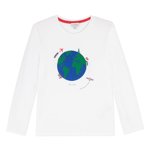 5P10632/01 PAUL SMITH JUNIOR BOYS LONG SLEEVE TEE-SHIRT