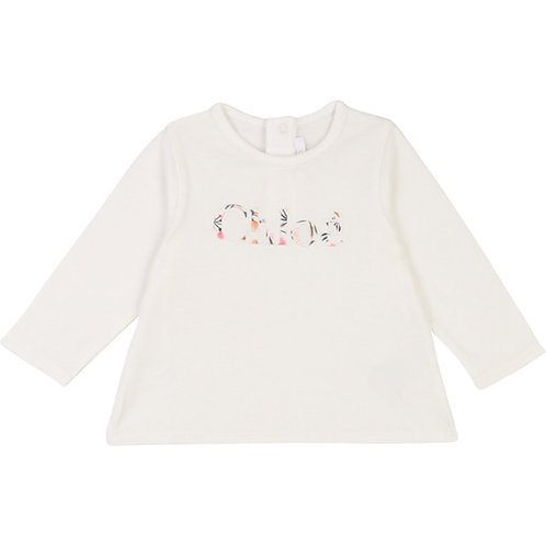 C05309/117 CHLOÉ BABY GIRLS LONG SLEEVED T-SHIRT