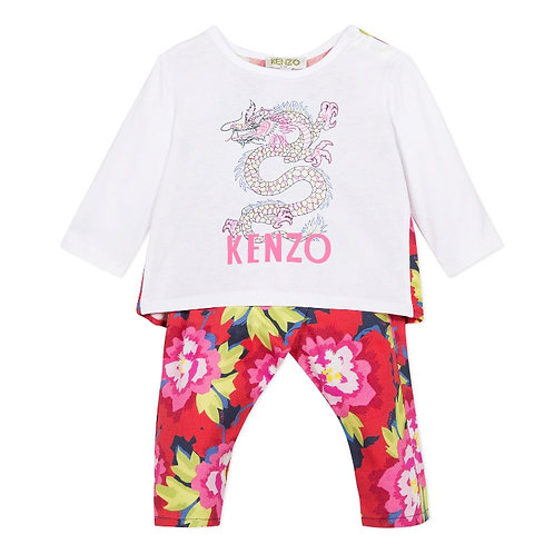 KP36017/04 KENZO BABY GIRLS OUTFIT