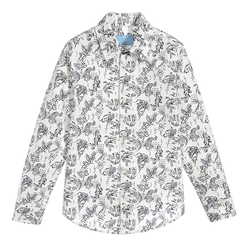 4I5070IC/002 LANVIN KIDS BOYS LONG SLEEVE SHIRT