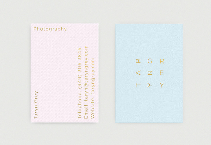 Taryn Grey Business Card by Richard Baird