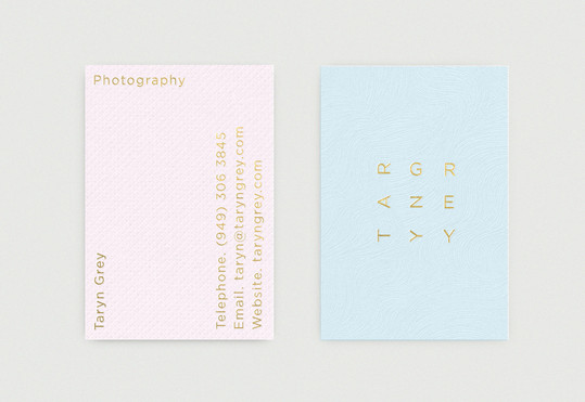 Taryn Grey Business Card by Richard Baird