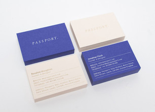 Passport Branding company Business Cards