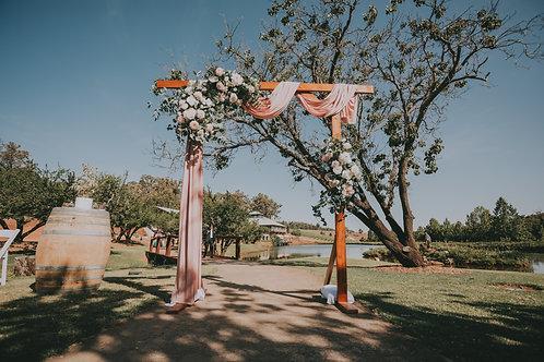 Brown Wooden Arch