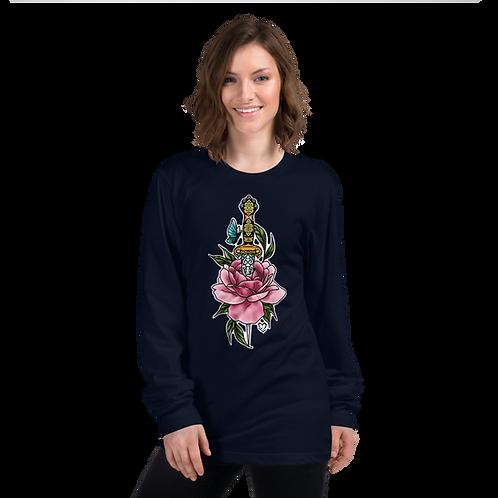 Rose Dagger Long sleeve t-shirt