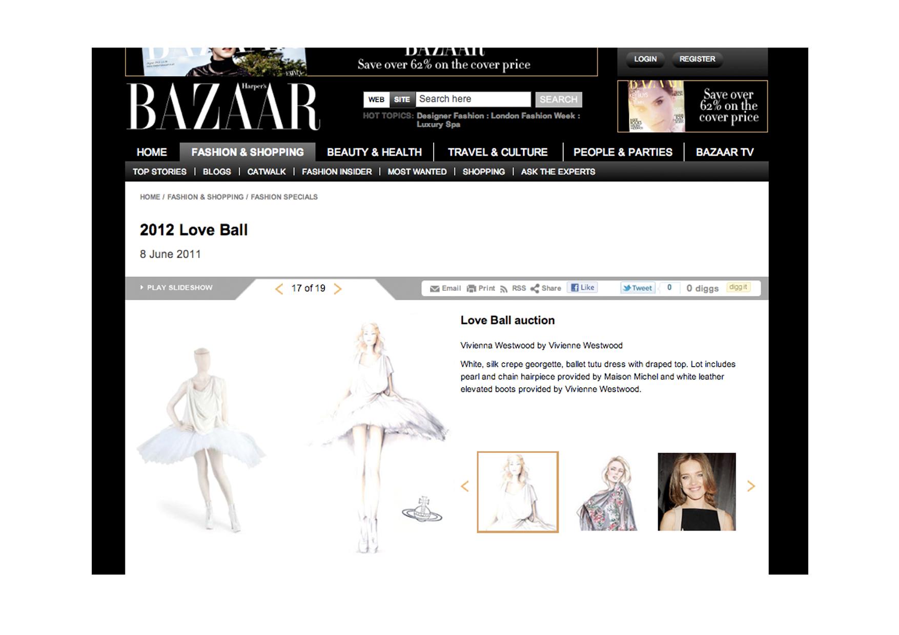 Harper's Bazaar web