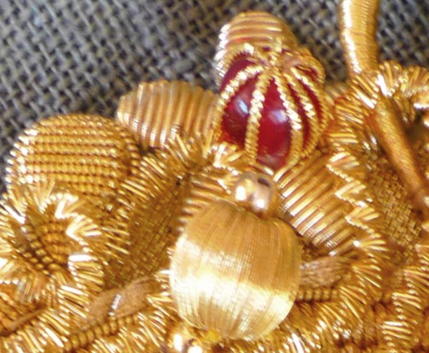 """""""Golden embroidery"""" detail"""