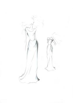 Long cocotte dress plain