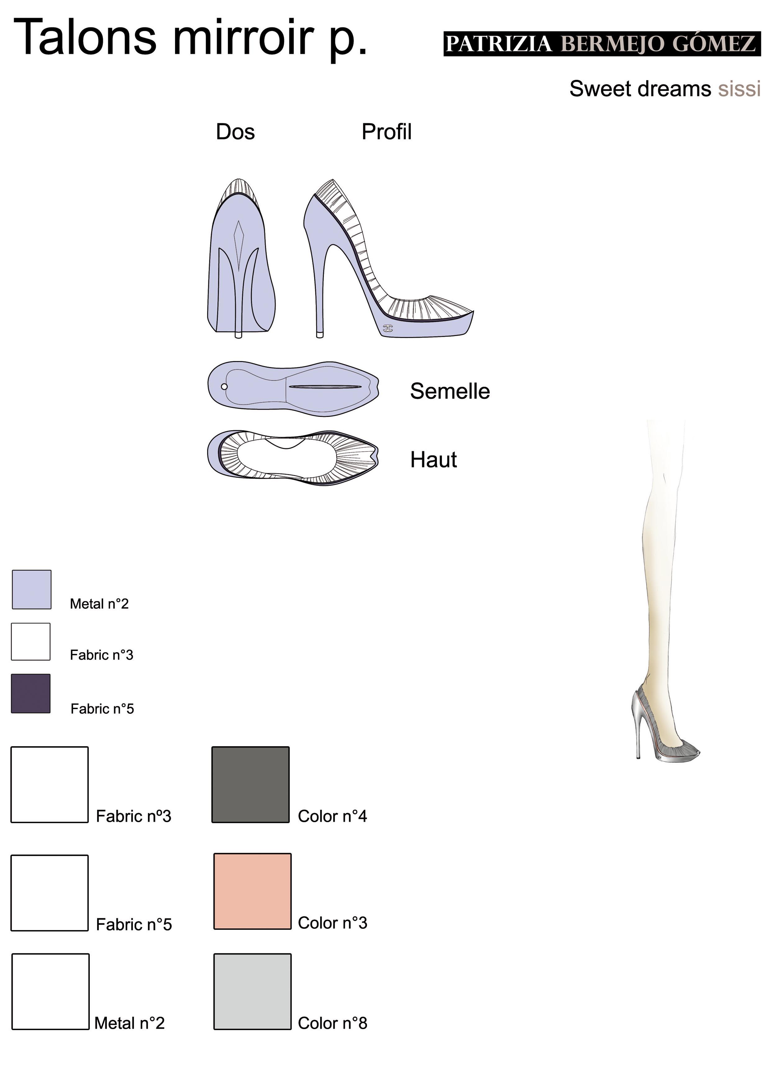 Talon mirroir plis