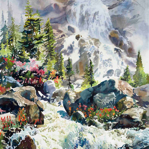 Alpine Falls Near Thunder Water Lake