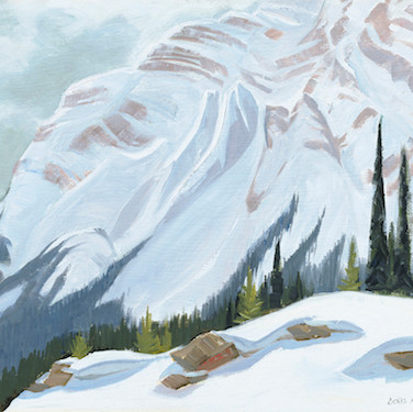 Near Bow Summit, From Jasper/Banff Highway (Print)