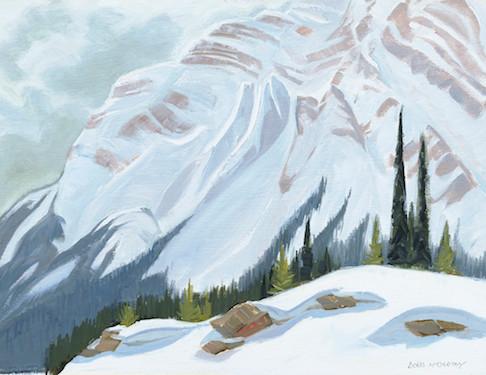 Near Bow Summit, From Jasper/Banff Highway (Print)
