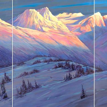 Alpenglow Panorama
