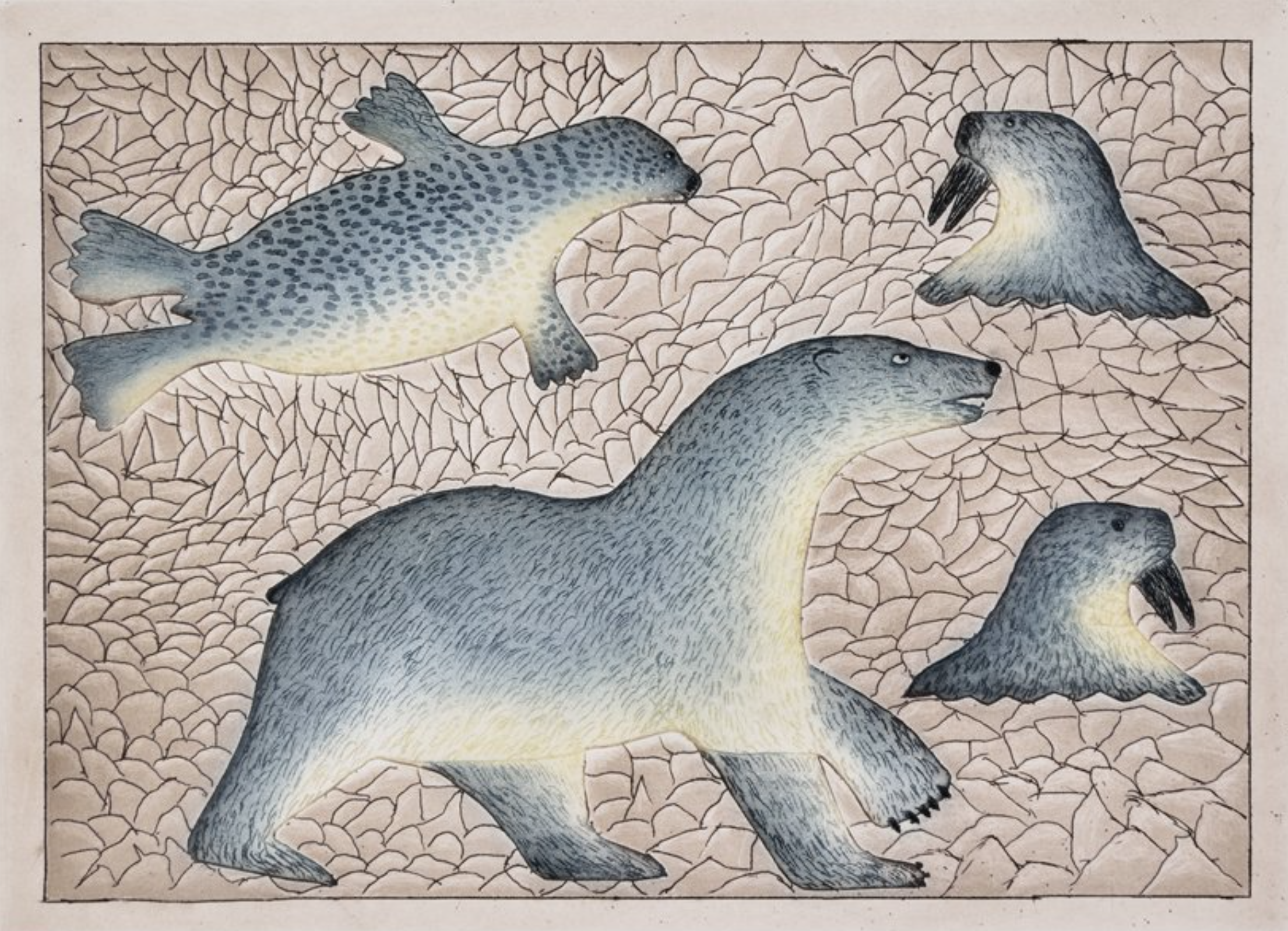Hunting Bear (hand-pulled print)