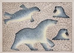 Hunting Bear (hand-pulled print)