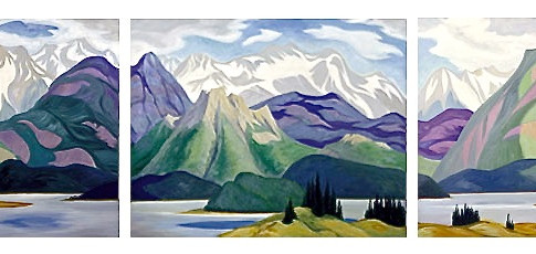 Along the Athabasca - Triptych