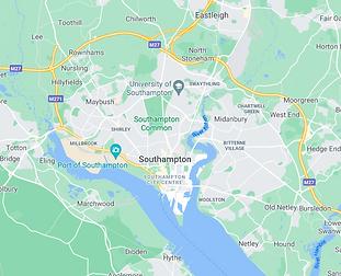 Map of Southampton City