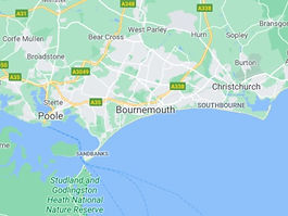 Map of Bournemouth, Christchurch & Poole