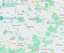 Map of London Borough of Bromley