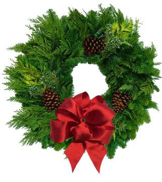 "22"" Wreath with Bow"