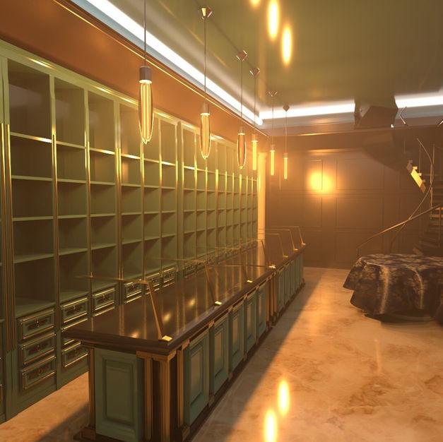 Imaginary chocolate shop