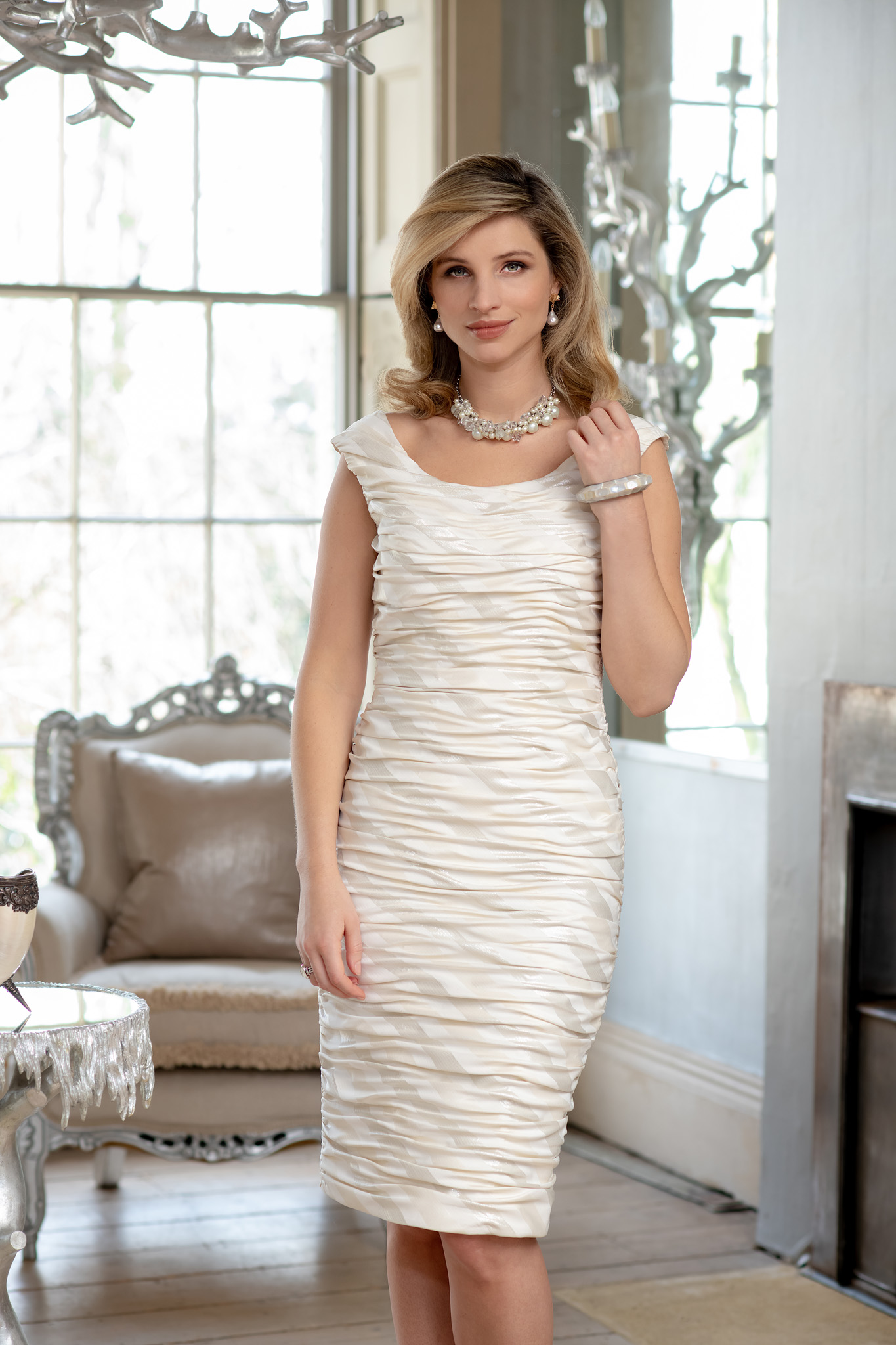ISF910 Mother of Pearl dress
