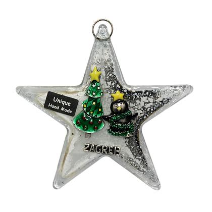 Božićna Staklena Zvijezda Mala