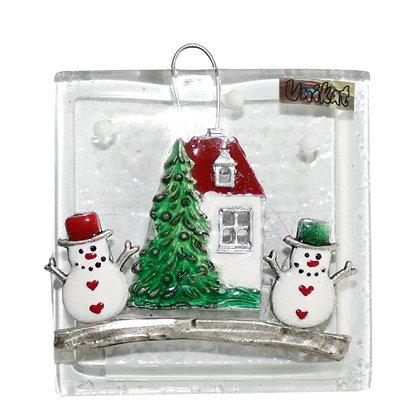 Božićna Staklena Visilica Mala