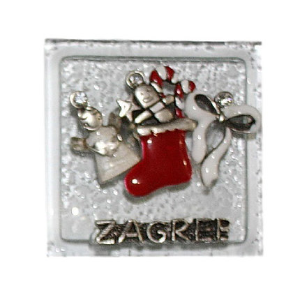 Božićni Magnet Stakleni