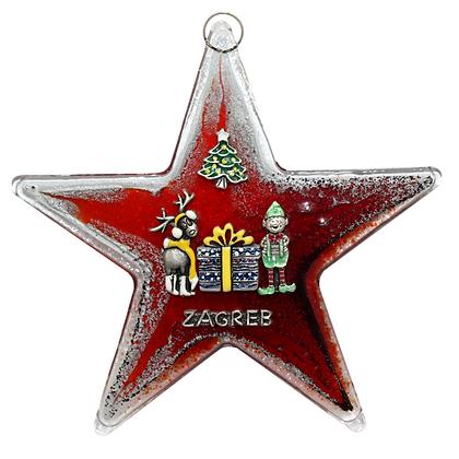 Božićna Staklena Zvijezda Velika