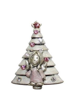Božićni Magnet Bor Bijeli