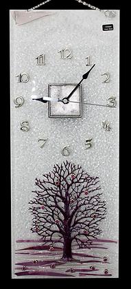 Zidni Sat Ljubičasto Drvo