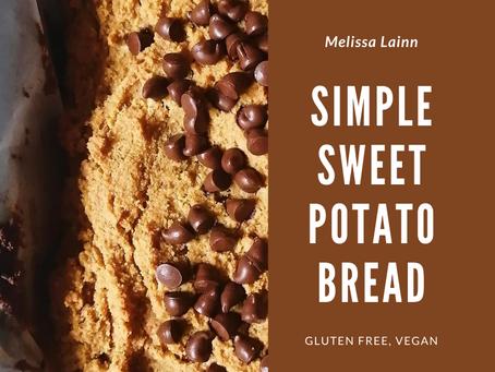 Simple Sweet Potato Bread (Gluten Free, Vegan)