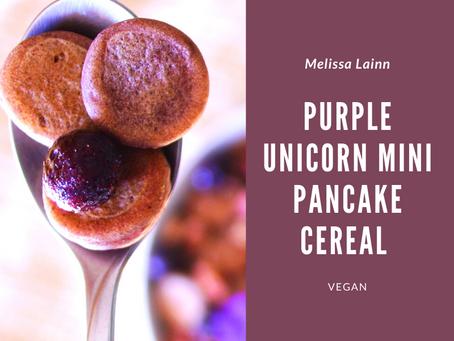 Purple Unicorn Mini Pancake Cereal (Vegan)