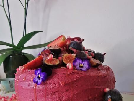 MLW Chocolate & Hibiscus Cake (vegan friendly)
