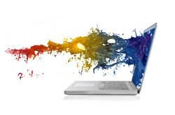 Laptop-with-paint-splash